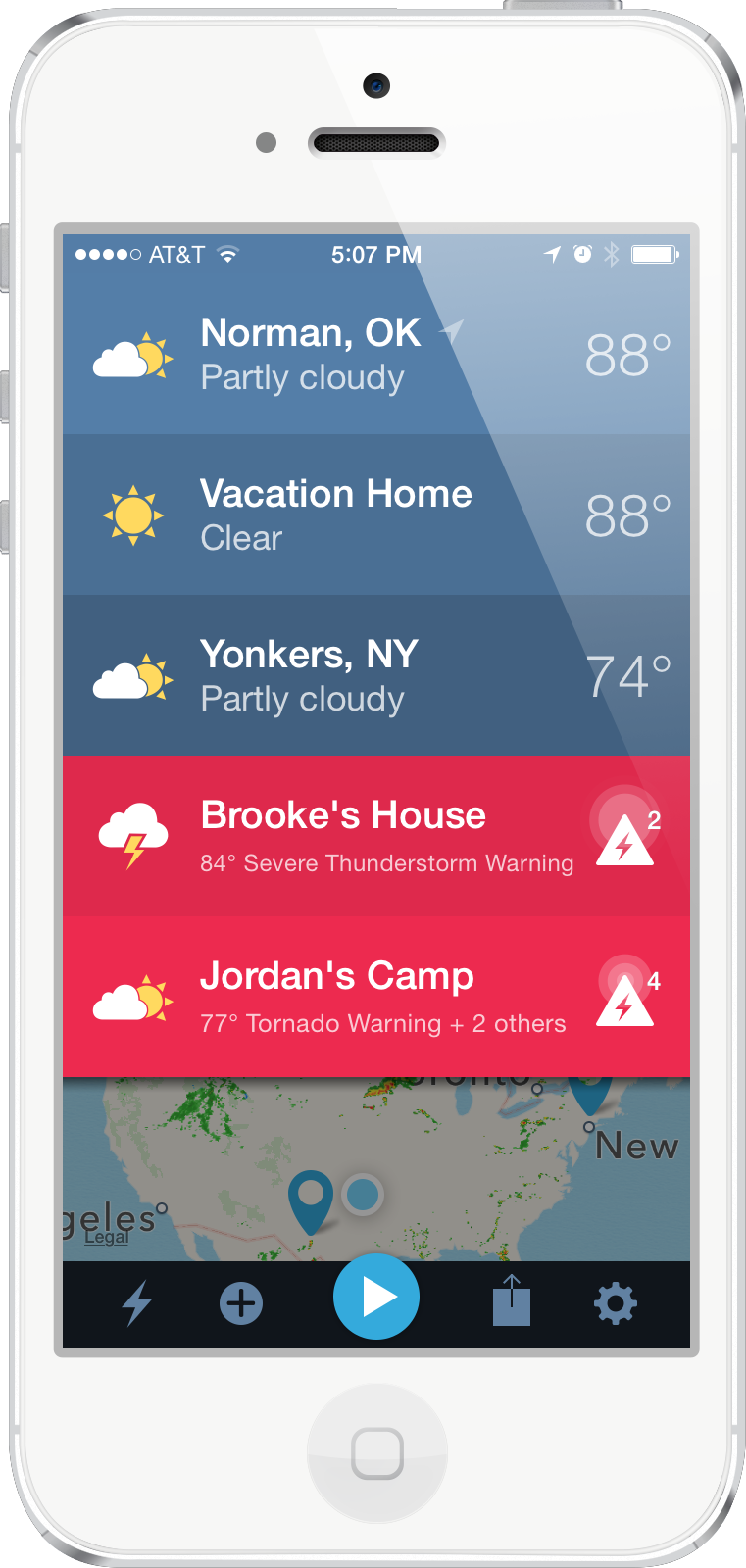 App by WDT Weather radio, Weather warnings, Tornado warning