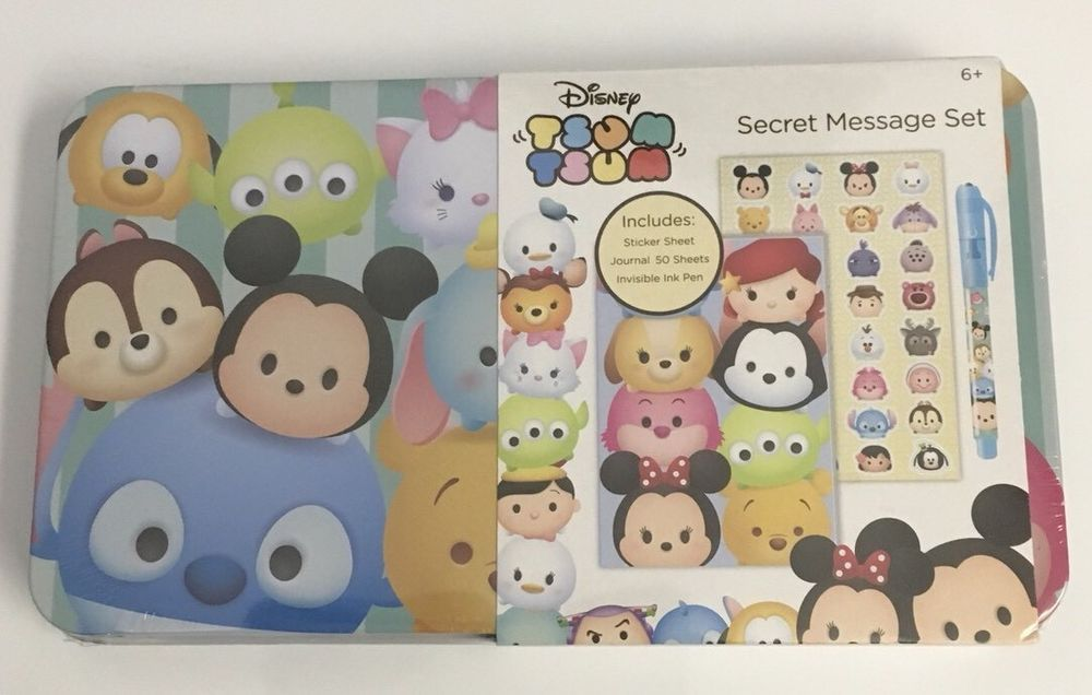 Disney Tsum Tsum Secret Message Set Journal Invisible Ink Pen