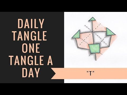 Daily Tangle - T - YouTube