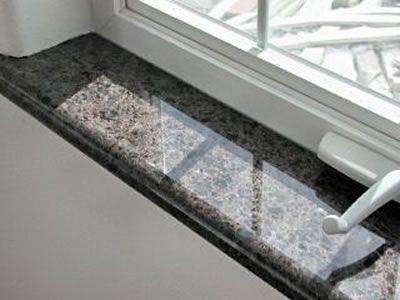 Granit Fensterbänke sind optimal für den Innen wie auch Außenbereich ...