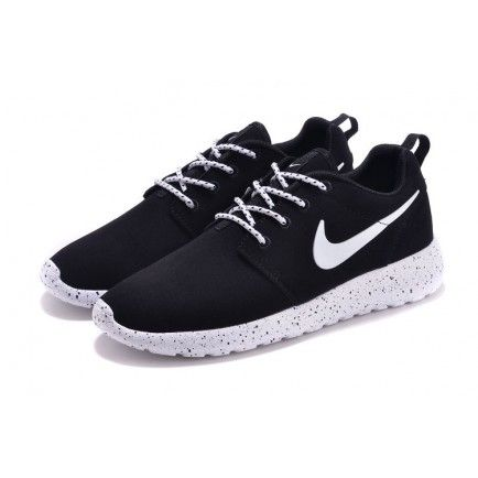 new style 85956 123bf Nike Roshe Run Fur Ink Spot Black Speckled White Shoes Suede