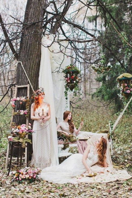 Enchanted Forest Fairytale Wedding In Shades Of Autumn Decoration
