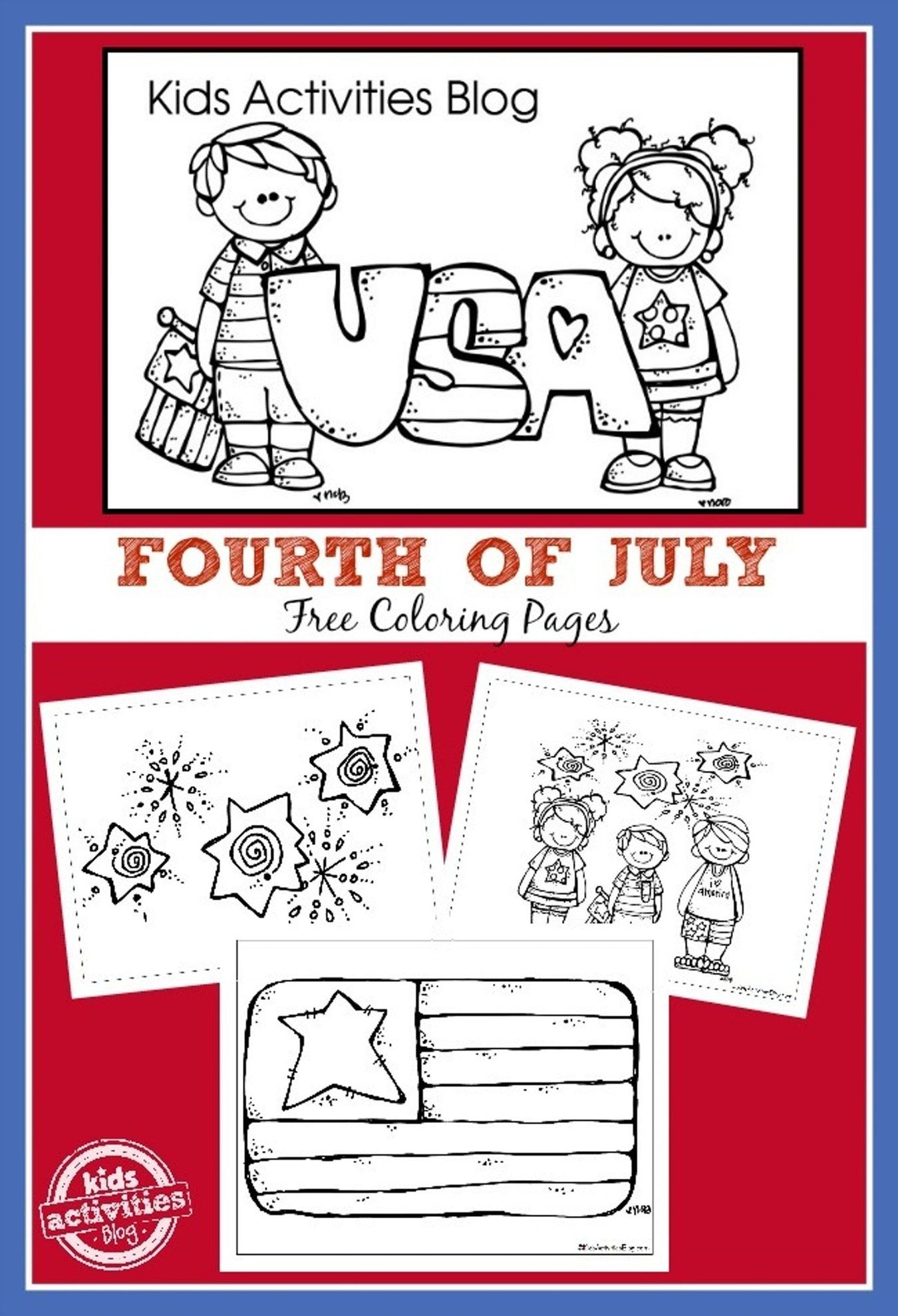 4th Of July Coloring Pages To Print At Home