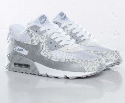 nike air max 90 08 silver leopard trainers