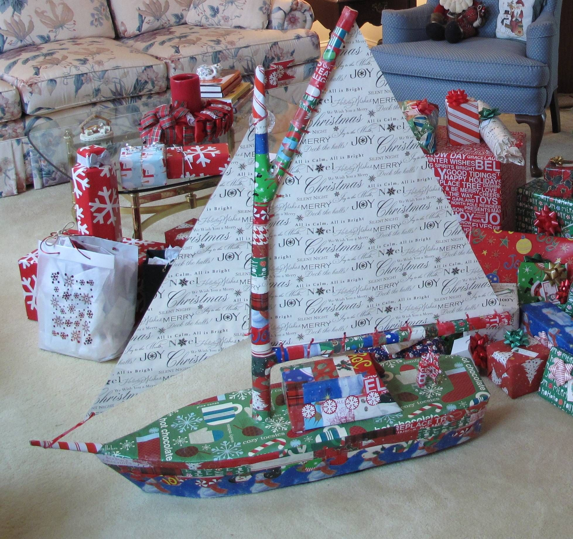 Now thats how to wrap a Christmas present Its not a boat