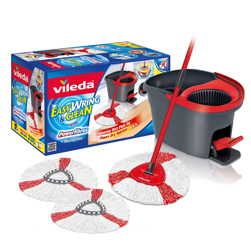 Vileda Easy Wring And Clean Spin Mop With 2 Refills
