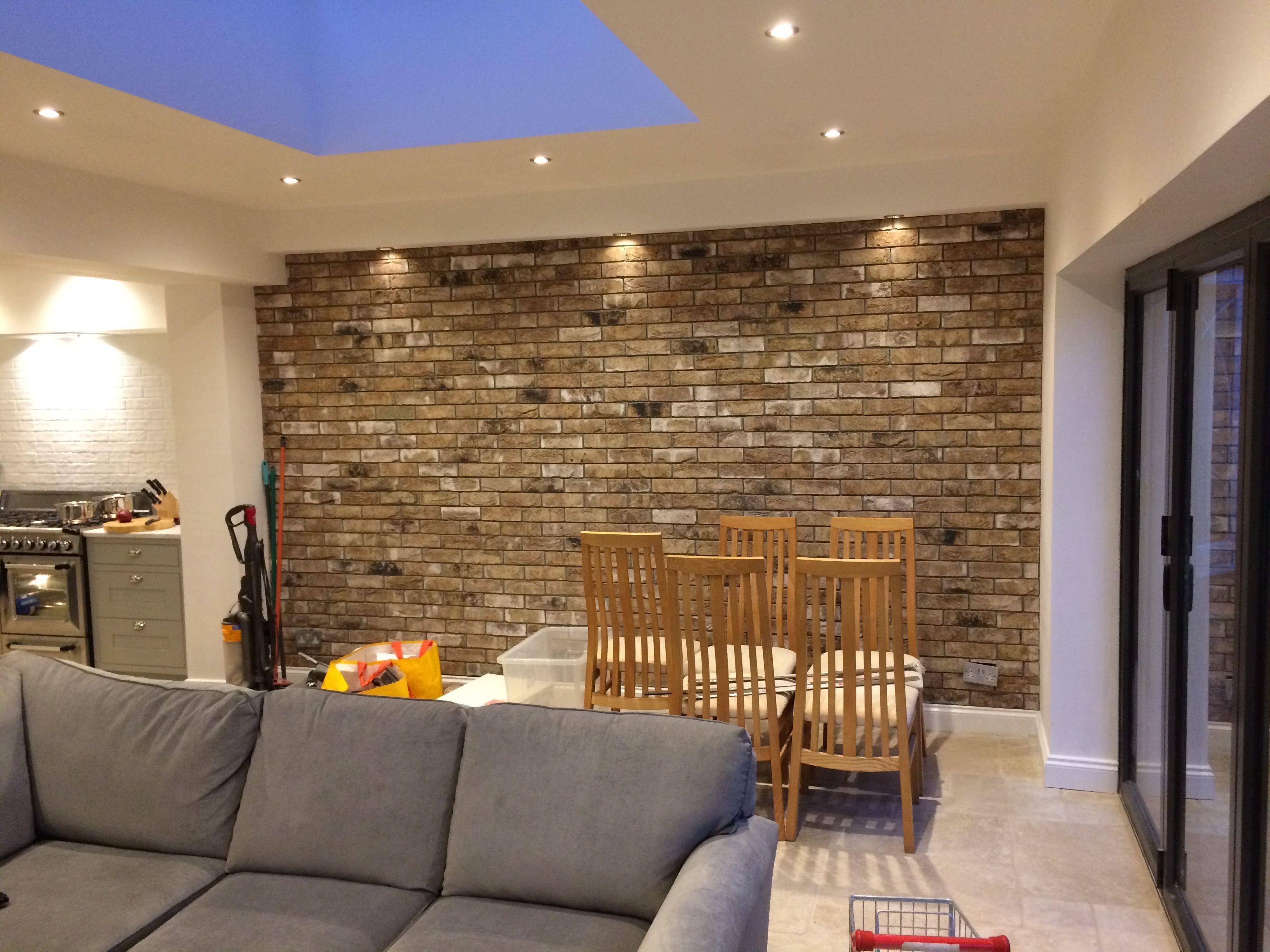 brick slip internal wall kitchen pinterest bricks