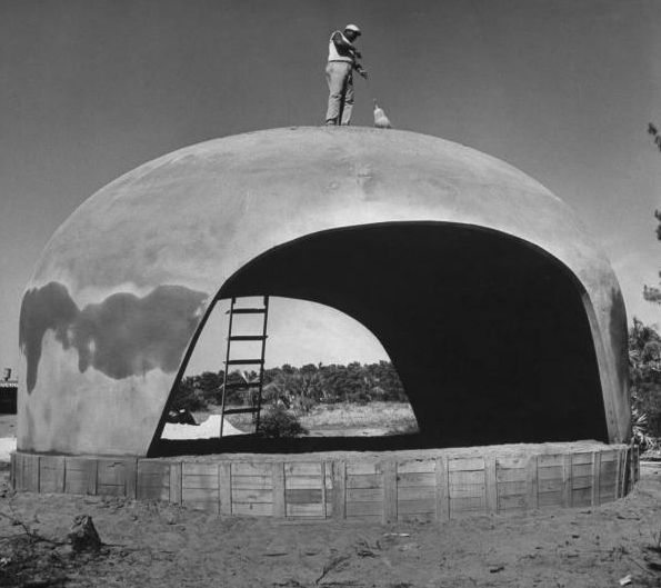 Construction Concrete Dome Home: Pin By Wilfried Ellmer On Concrete Shell Building Thin