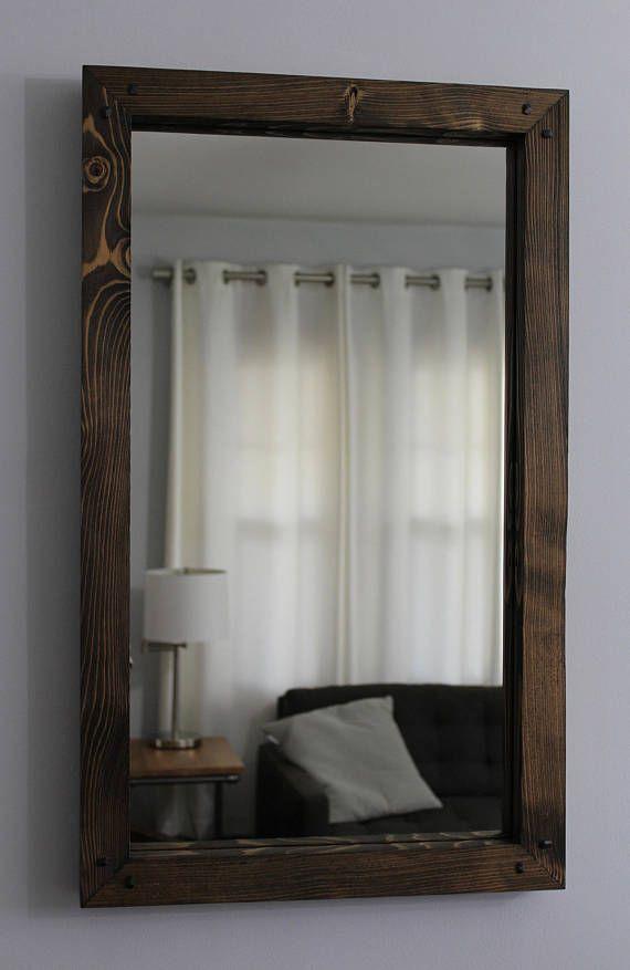 rustic wood mirror 30x18 distressed frame pine rustic wood mirror frame73 rustic