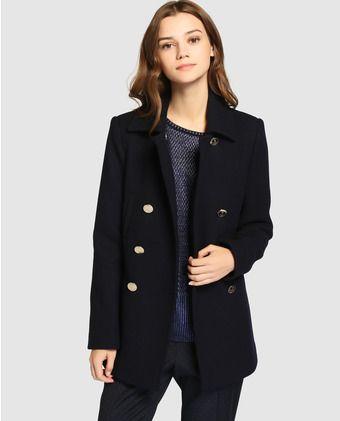 52bad027 Abrigo tipo marinero de mujer Tintoretto en azul | Style | Ropa ...