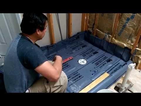Plato de ducha a nivel de suelo con desagüe central: parte 2 - YouTube