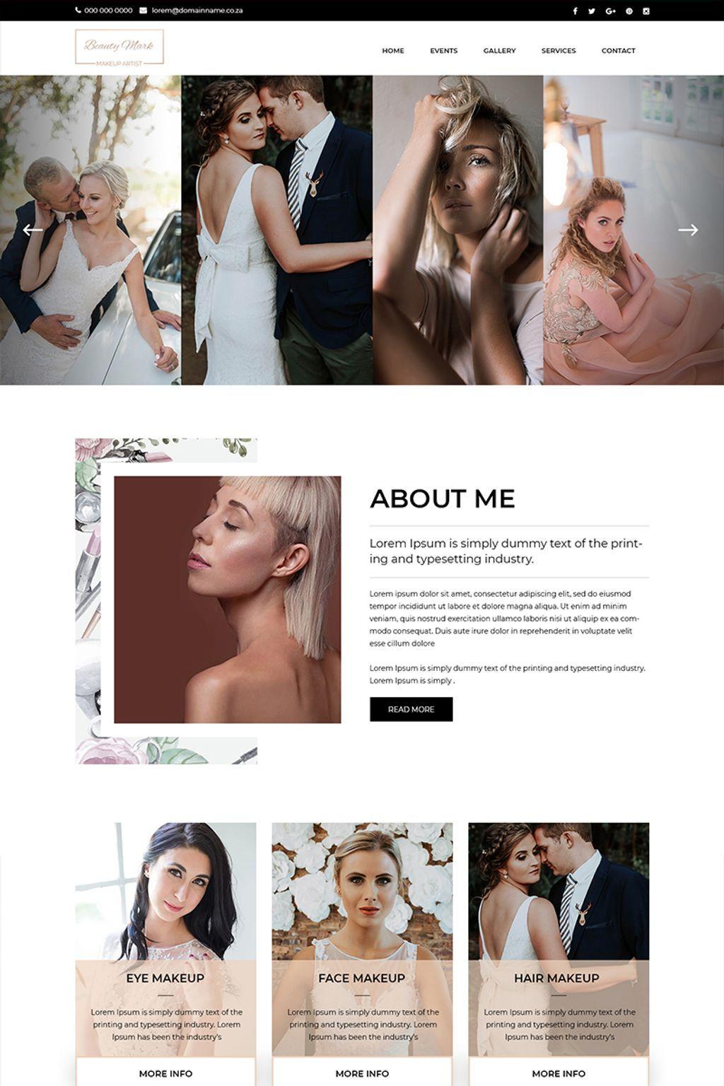 Beauty Mark Makeup Artist PSD Template Makeup artist