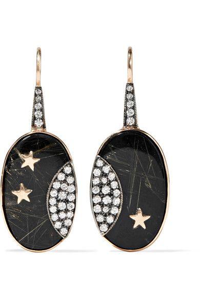 Andrea Fohrman 14-karat Gold Multi-stone Earring nXRiCujV