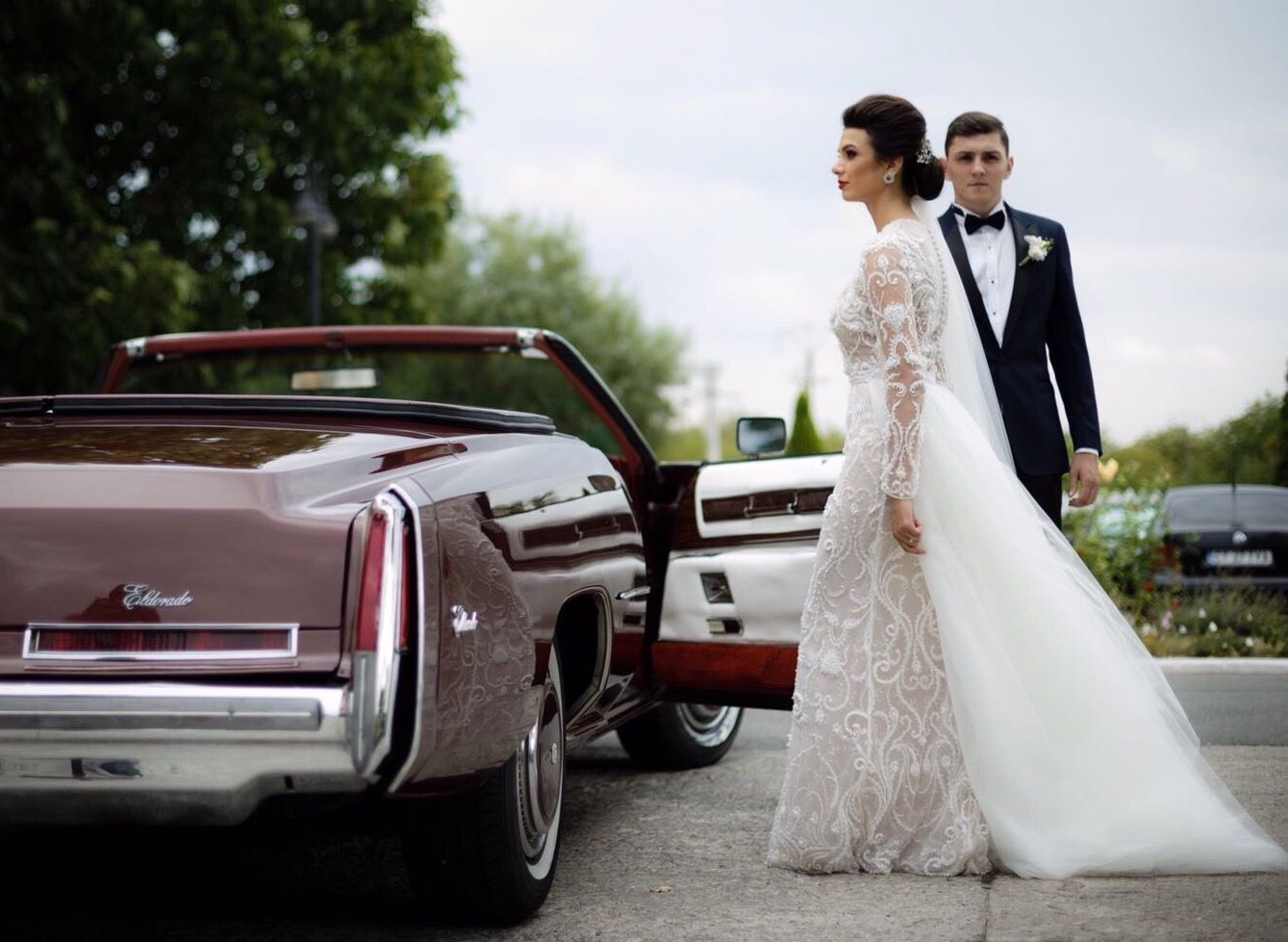 Beautiful bride Claudia in our Barbara Dress. #OtiliaBrailoiuAtelier #weddingdress