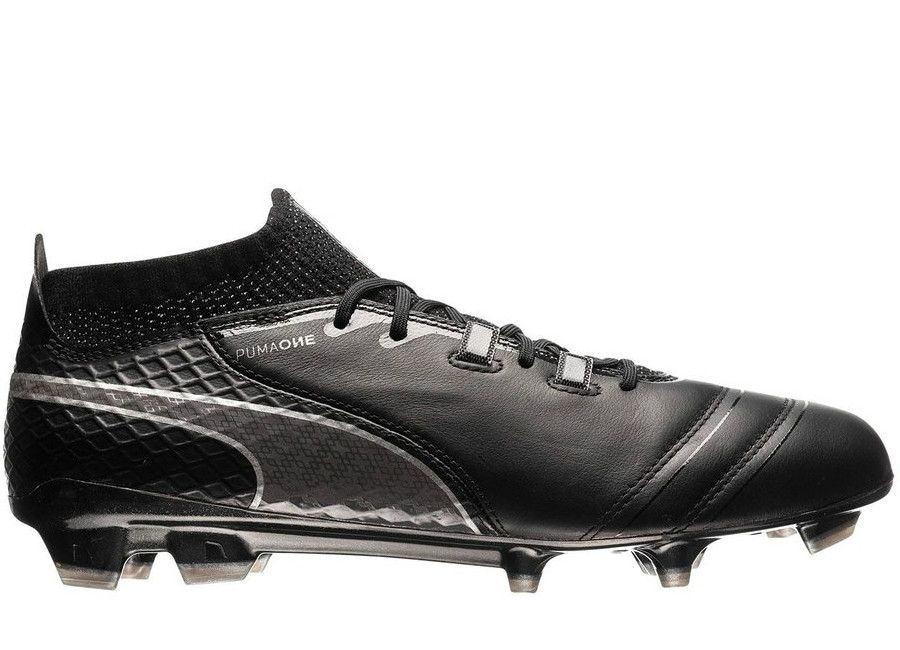 7631c295700  football  soccer  futbol  footballboots Puma One 17.1 FG - Black   Black