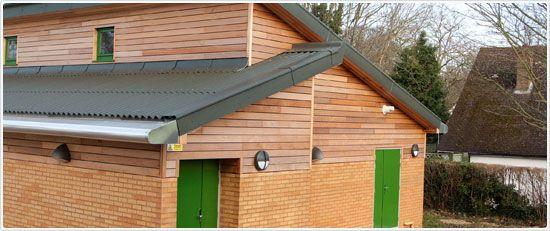 Sports Pavilion In Woodmansterne In Surrey With Cemsix Corrugated