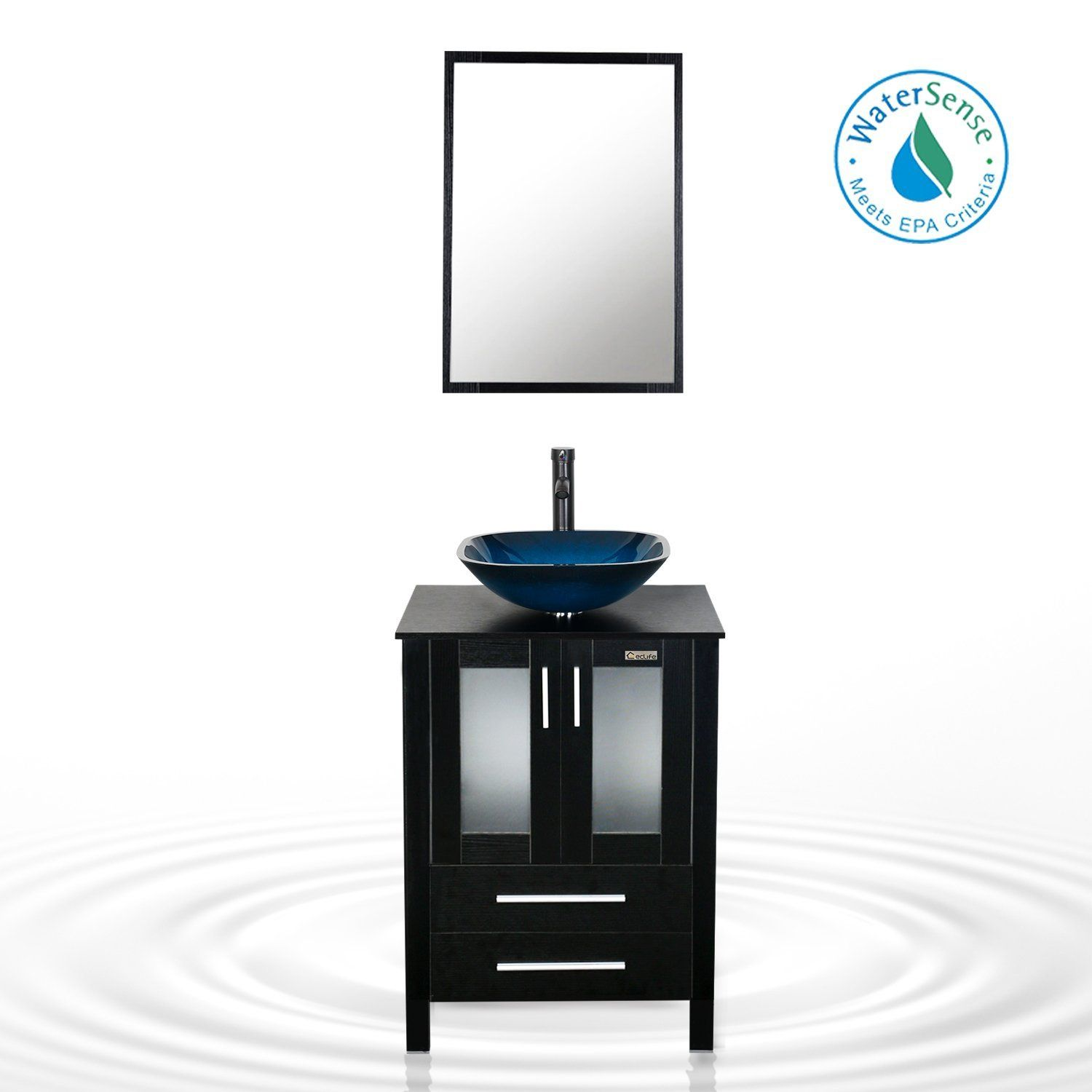Eclife 24\'\' Modern Bathroom Vanity And Sink Combo Stand Cabinet and ...