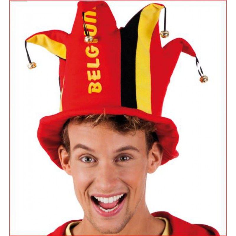 Supporters hoed België met gouden belletjes Dit formaat past bijna iedereen door een perfecte pasvorm. Prachtige muts voor België EK voetbal als de Rode Duivels spelen. Moedig het Belgische elftal aan met deze mooie België voetbal hoed.