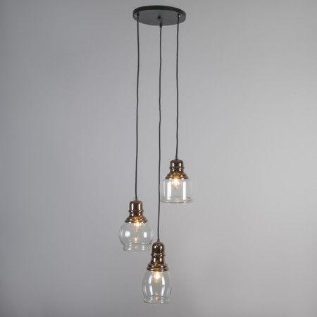 Lámpara colgante TRIO cobre #iluminacon #decoracion #interiorismo ...