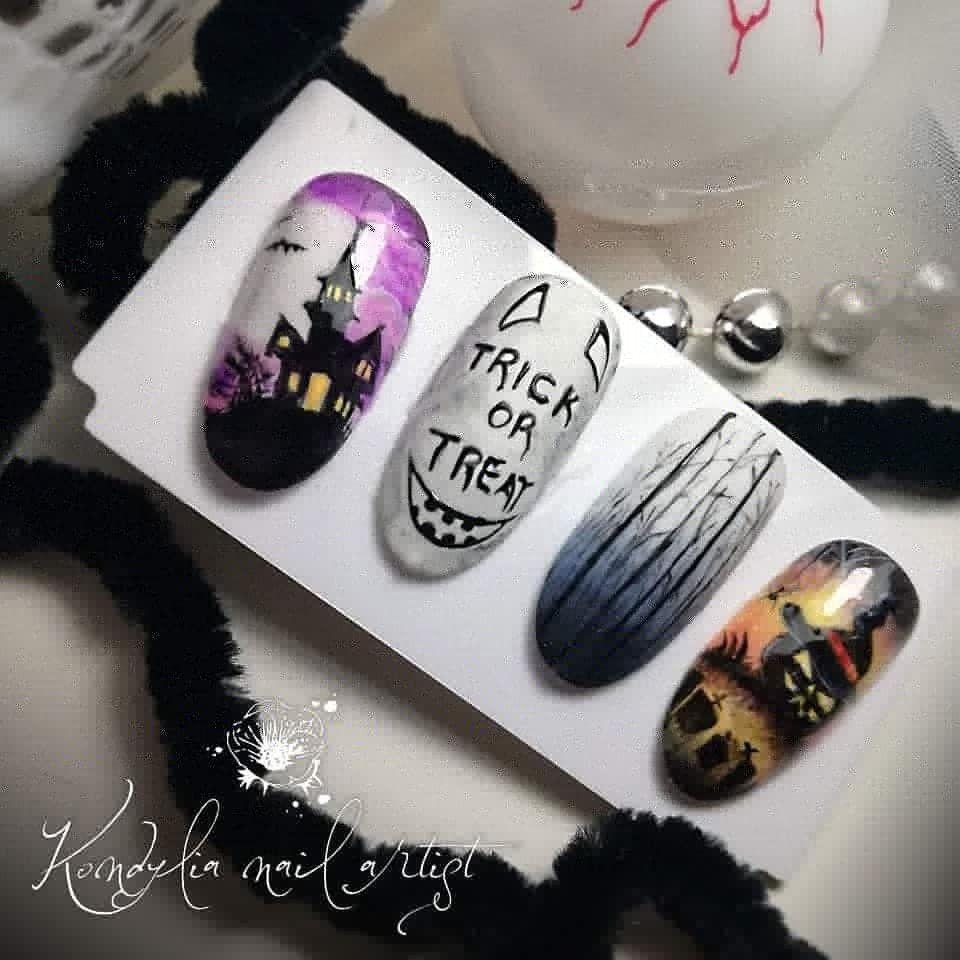 #kondilianailartist #nailart #nails #naillove #nailartist #lovetopaint #nailcreations #halloweennails #halloween