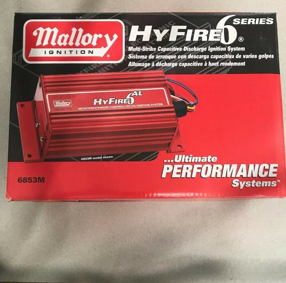 Ad eBay) Mallory Hyfire 6 Series Ignition Box Part # 6853M ... on distributor ignition wiring diagram, mallory hyfire wiring diagram for 6, msd ignition wiring diagram, dynatek ignition wiring diagram, jacobs ignition wiring diagram, ford ignition wiring diagram, crane ignition wiring diagram,
