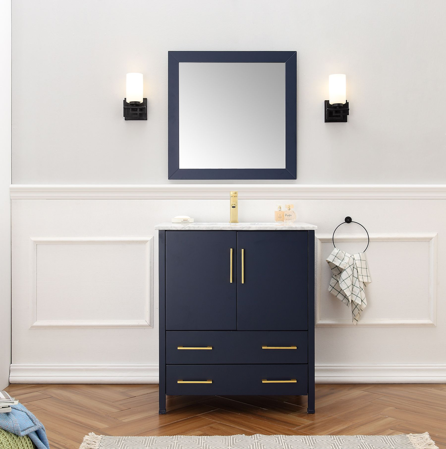 Dora Soo Collection 30 Single Bathroom Vanity Vanity Set With Mirror Legion Furniture [ 1814 x 1800 Pixel ]