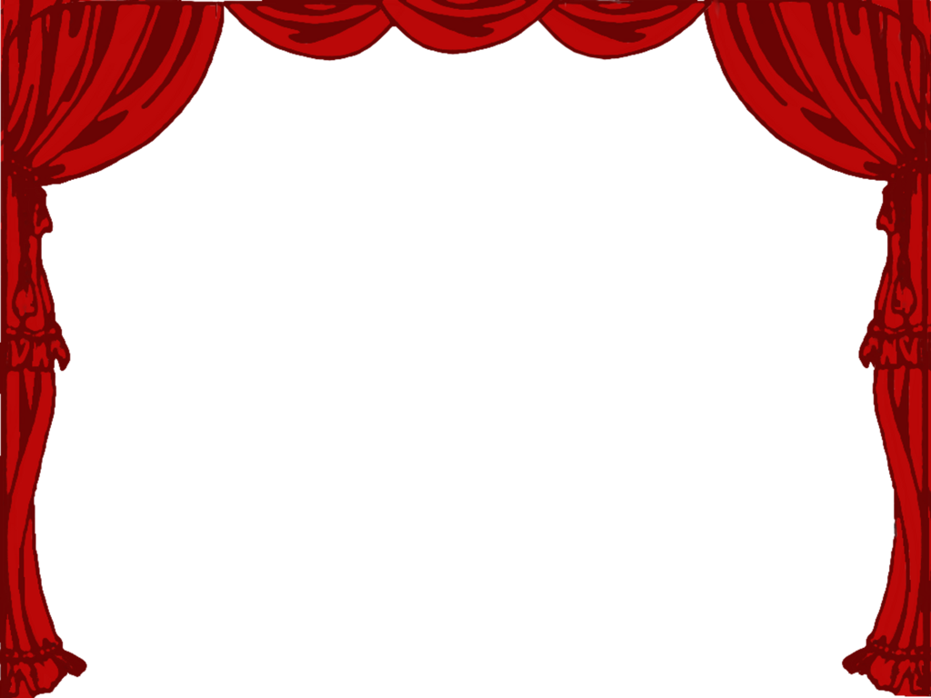 Theatre curtains png - Stage Curtain Clipart Black And White Theatre Borders