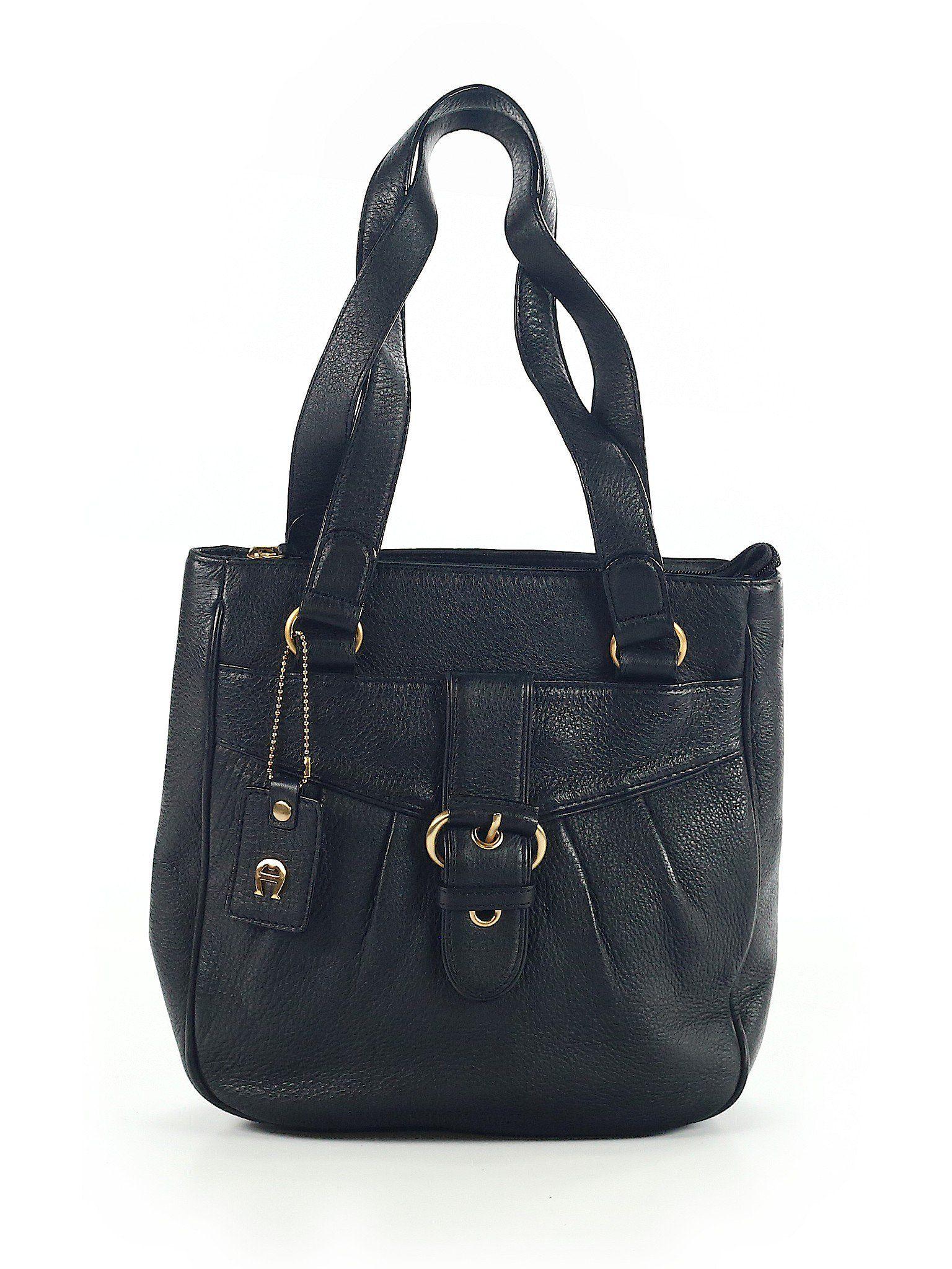 e0a8c6ebbebc Etienne Aigner Leather Shoulder Bag  Size NA Black Women s Bags -  98.99
