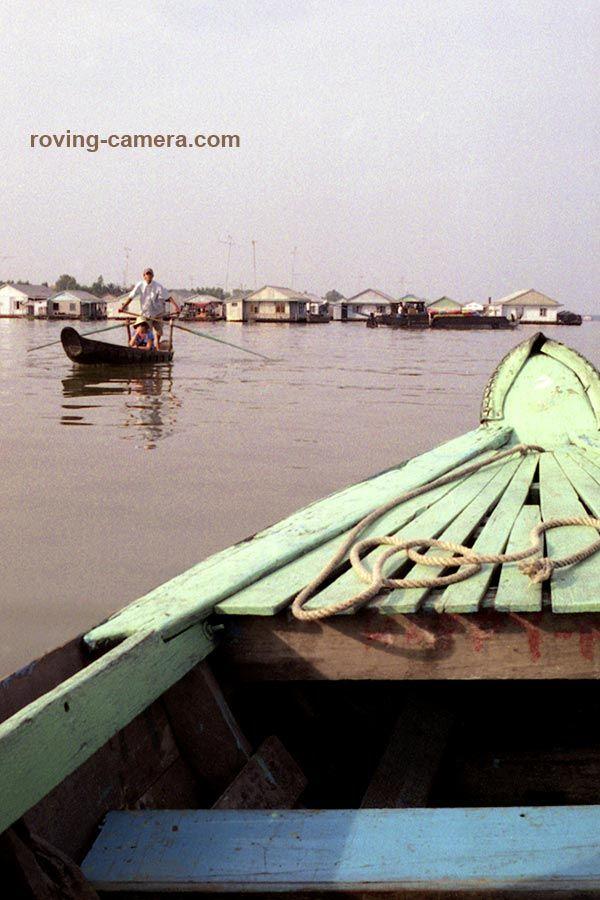 Floating Cham Village near Chau Doc, Vietnam