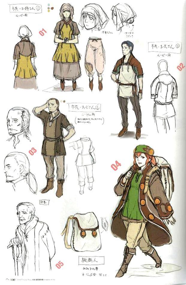 Character Design Course : Fire emblem awakening concept art d characters