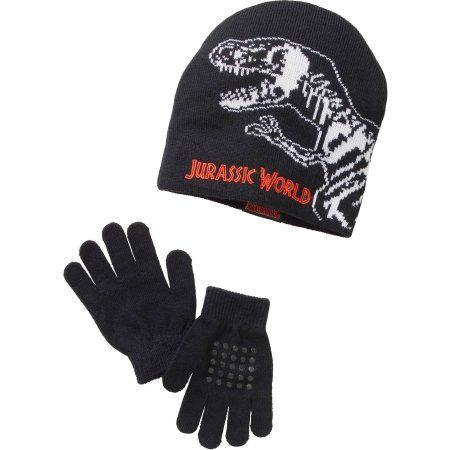 4c26474e361fcc Accessory Innovations Boys' Jurassic Park Beanie and Glove, Multi, One  Size, Black