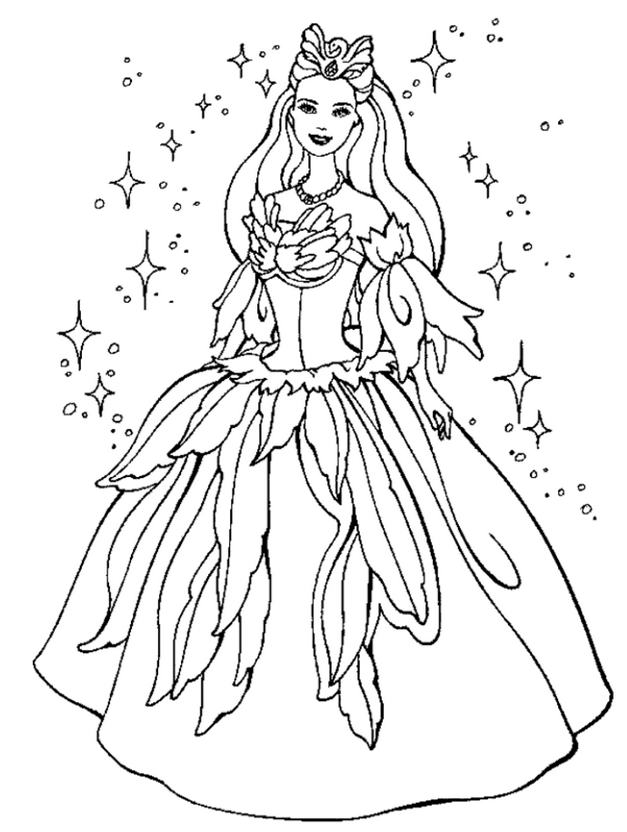 farytale princess coloring pages - photo#2