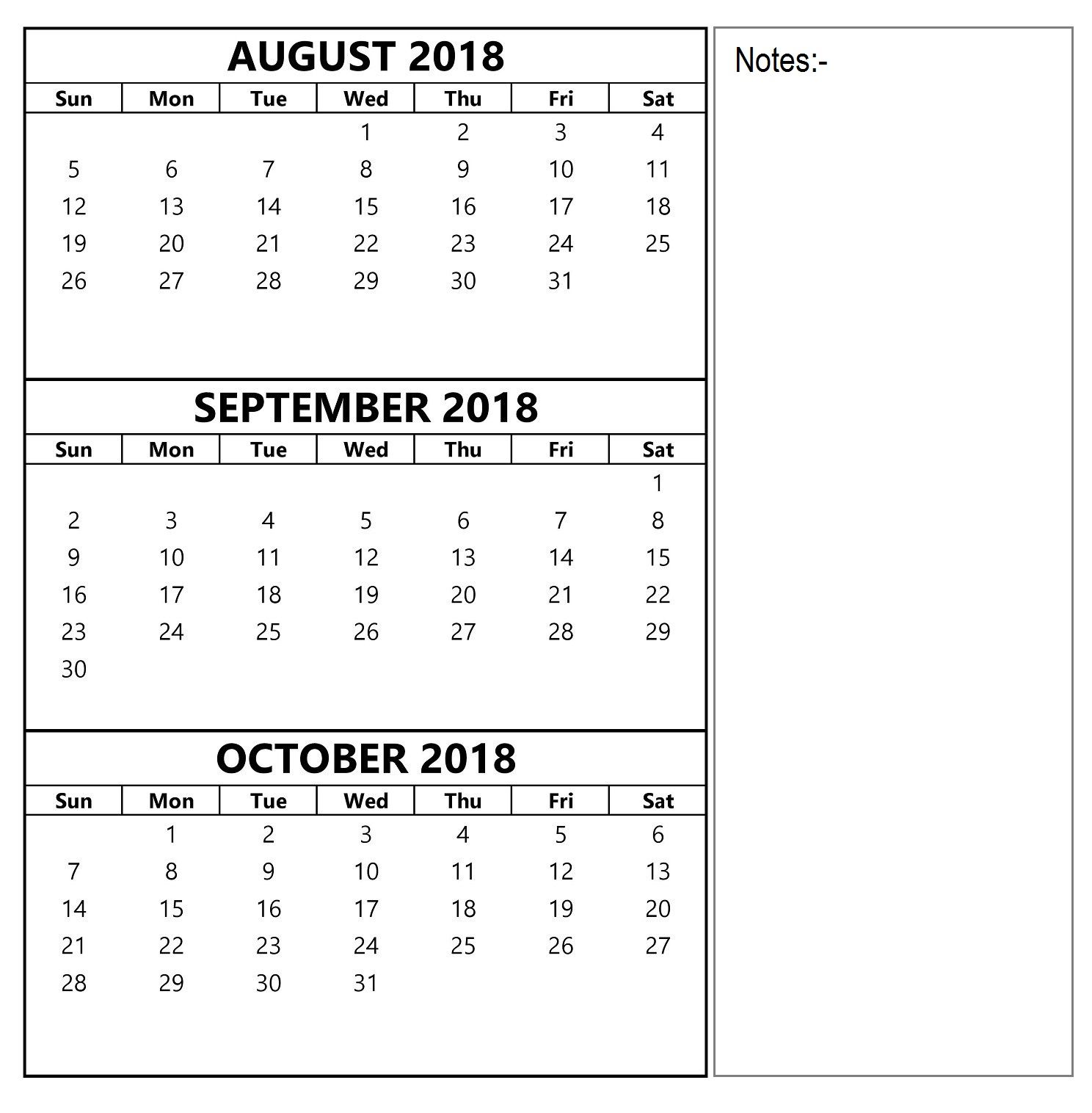 August September October Calendar Worksheet Con