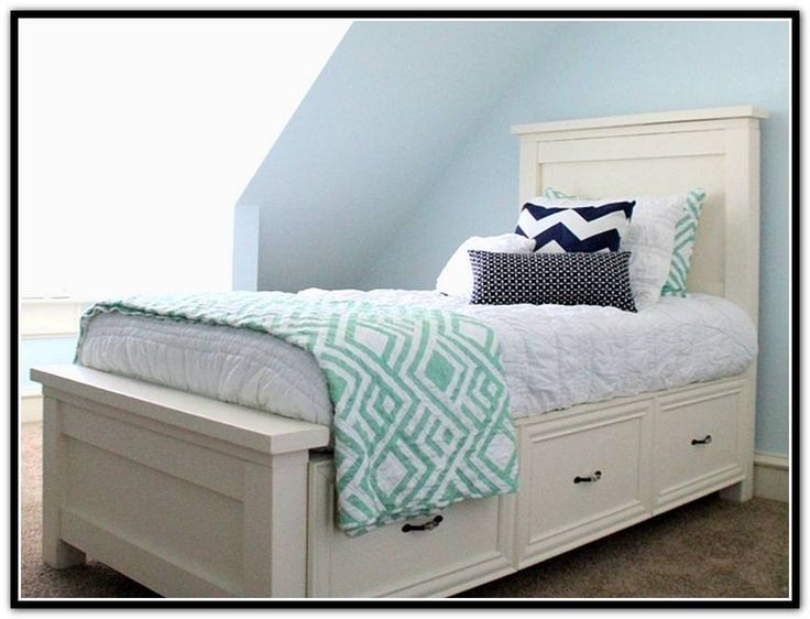 Twin Bed Frame With Storage Drawers Check more at http://casahoma ...