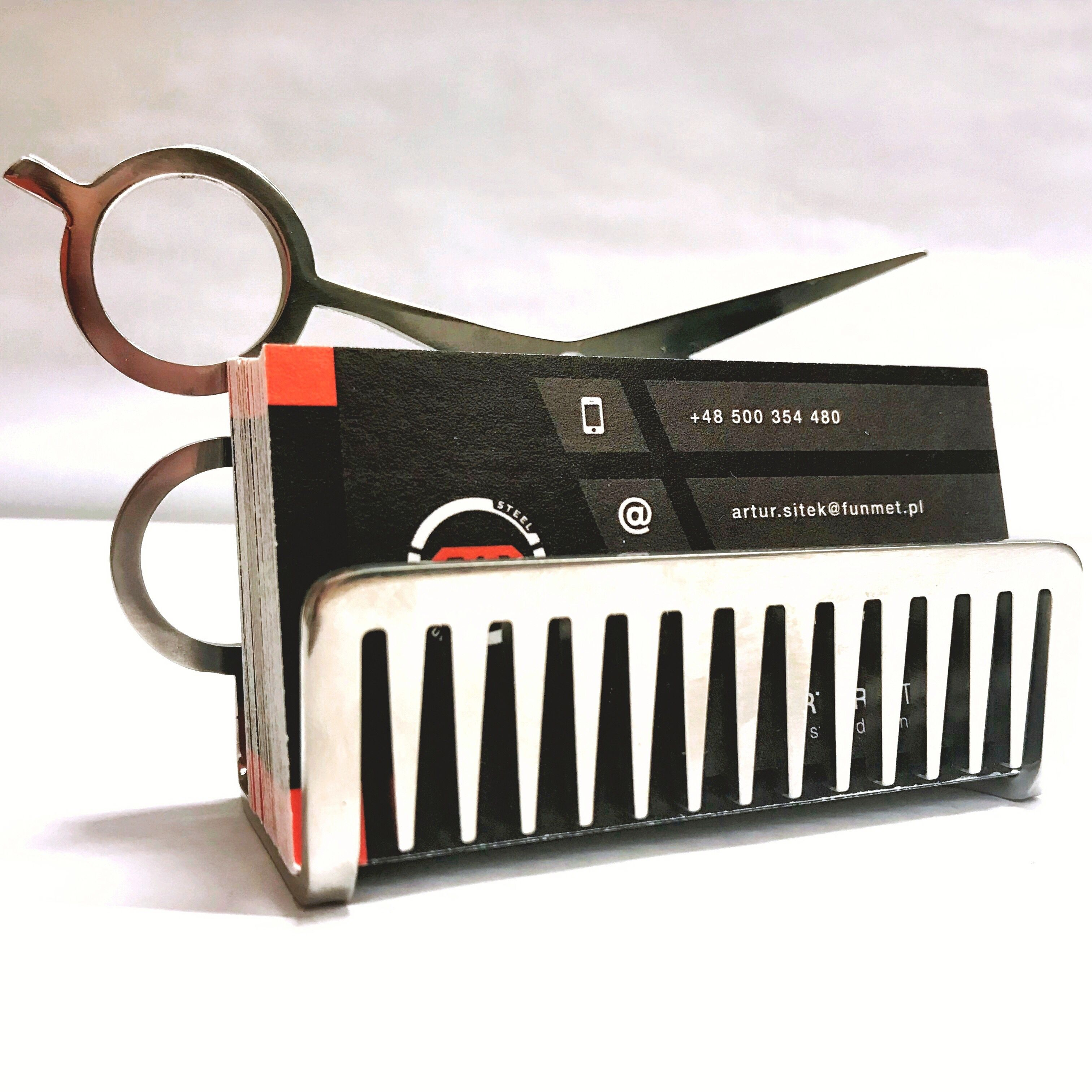 Wizytownik Hairdresser Sheet Metal Electronic Products Card Holder