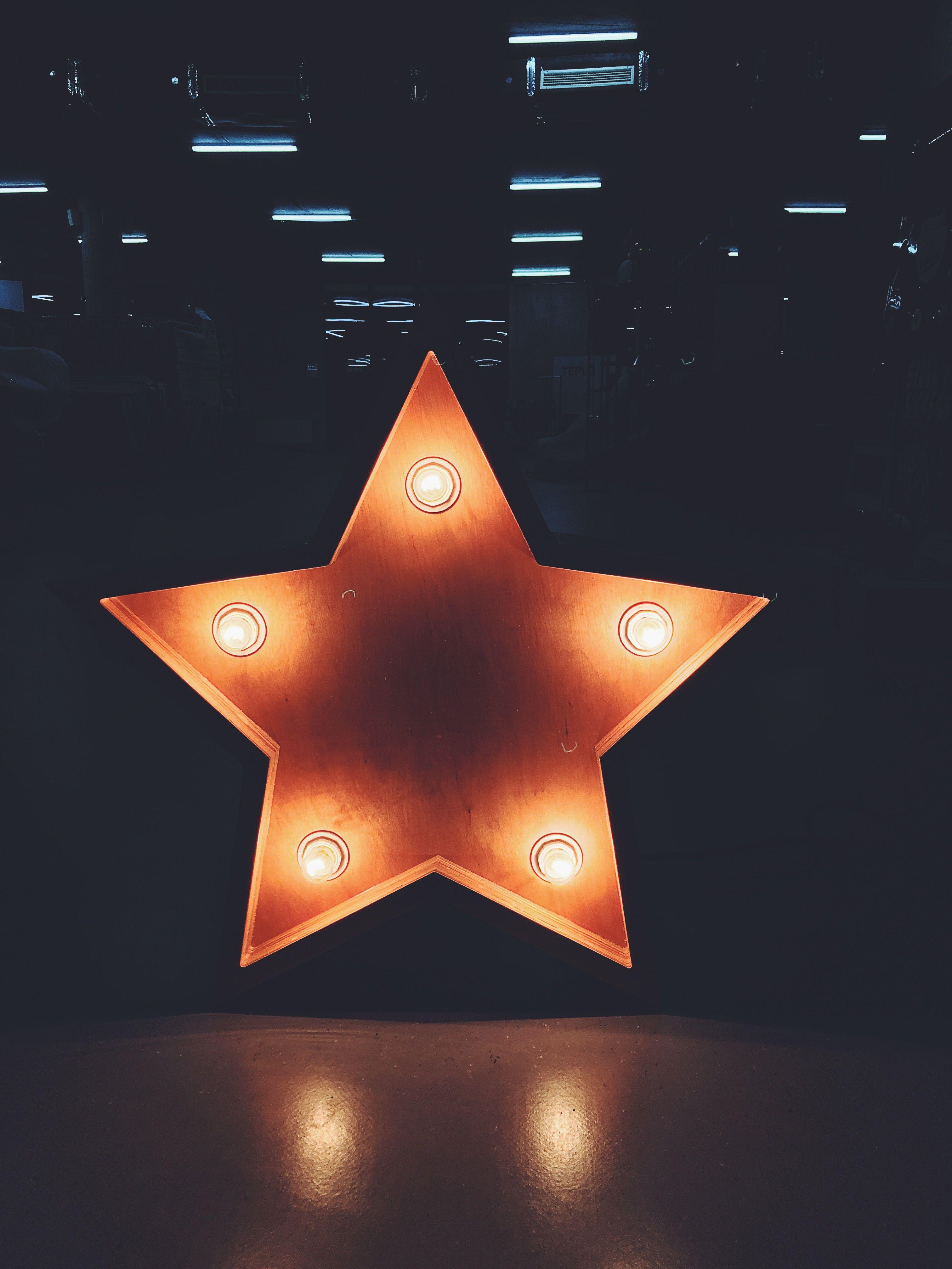 Freestanding Light Up Letter Star