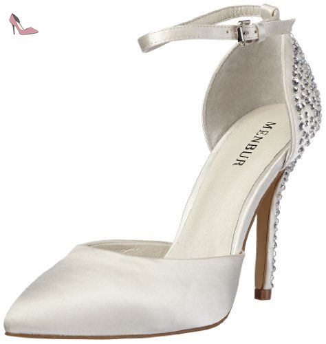Menbur Adelia 04635, Chaussures femmeBlanc (TR-B2-Ivoire-35), 37 EU