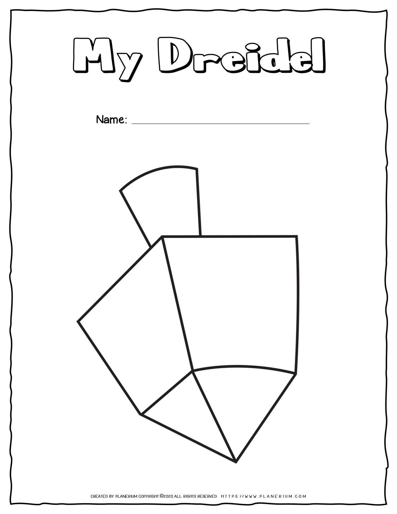 My Dreidel Coloring Page Free Printable Planerium Coloring Pages Dreidel Free Coloring Pages [ 1650 x 1275 Pixel ]