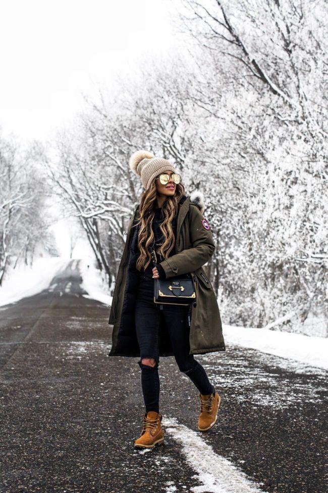 26. Februar 2018 Wo wir leben - Ausstattungsdetails: Canada Goose Kensington Parka Alo Y ... #winteroutfitscold