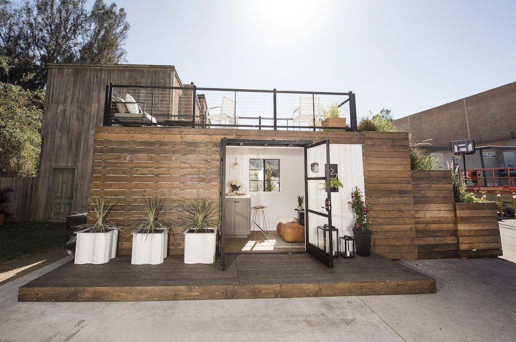 Rooftop Deck Container Home Tiny House Exterior Tiny House Design Tiny House Listings