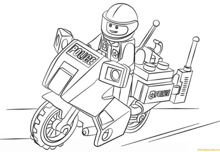 Motorcycle Coloring Page Lego Coloring Pages Lego Coloring Batman Coloring Pages