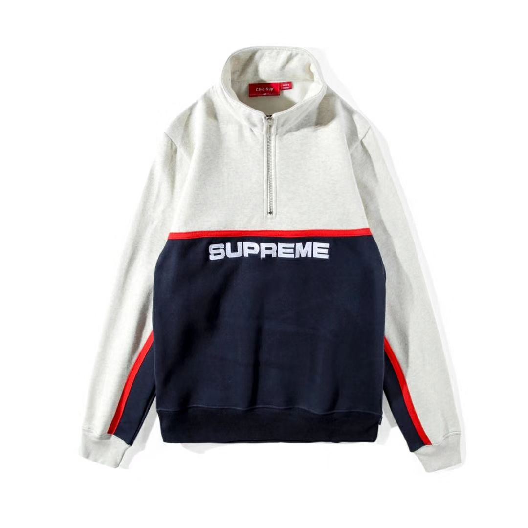 d5bb73cd Now in stock! Supreme Half Zip Pull Up Sweater. Three Color Options:  White/Navy, Black, Green/Red #supreme #supremeforsale #supreme4sale  #supremenyc ...