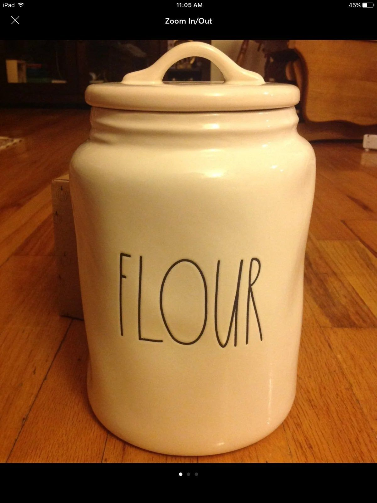 New Never Used Rae Dunn Large Canister Flour Canister Rae Dunn Canisters