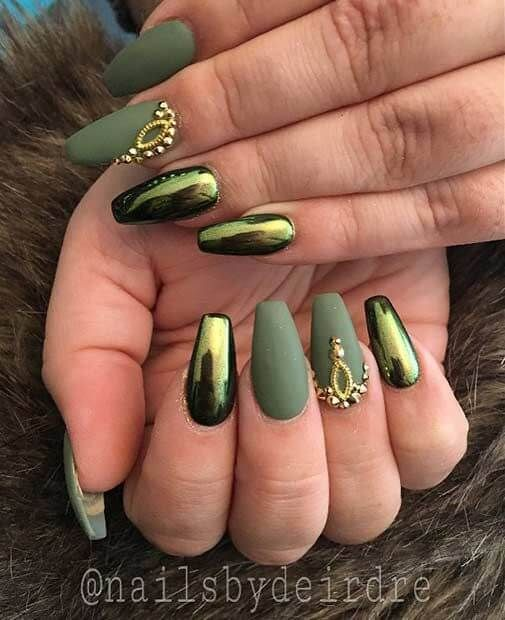 Green Nail Art Inspire With These 70 Designs Nail Art Nails