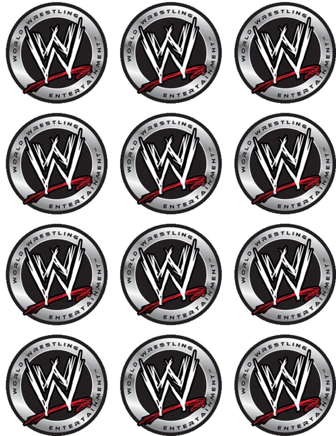 Wwe Edible Image Cupcake Toppers By Shorecakesupply On