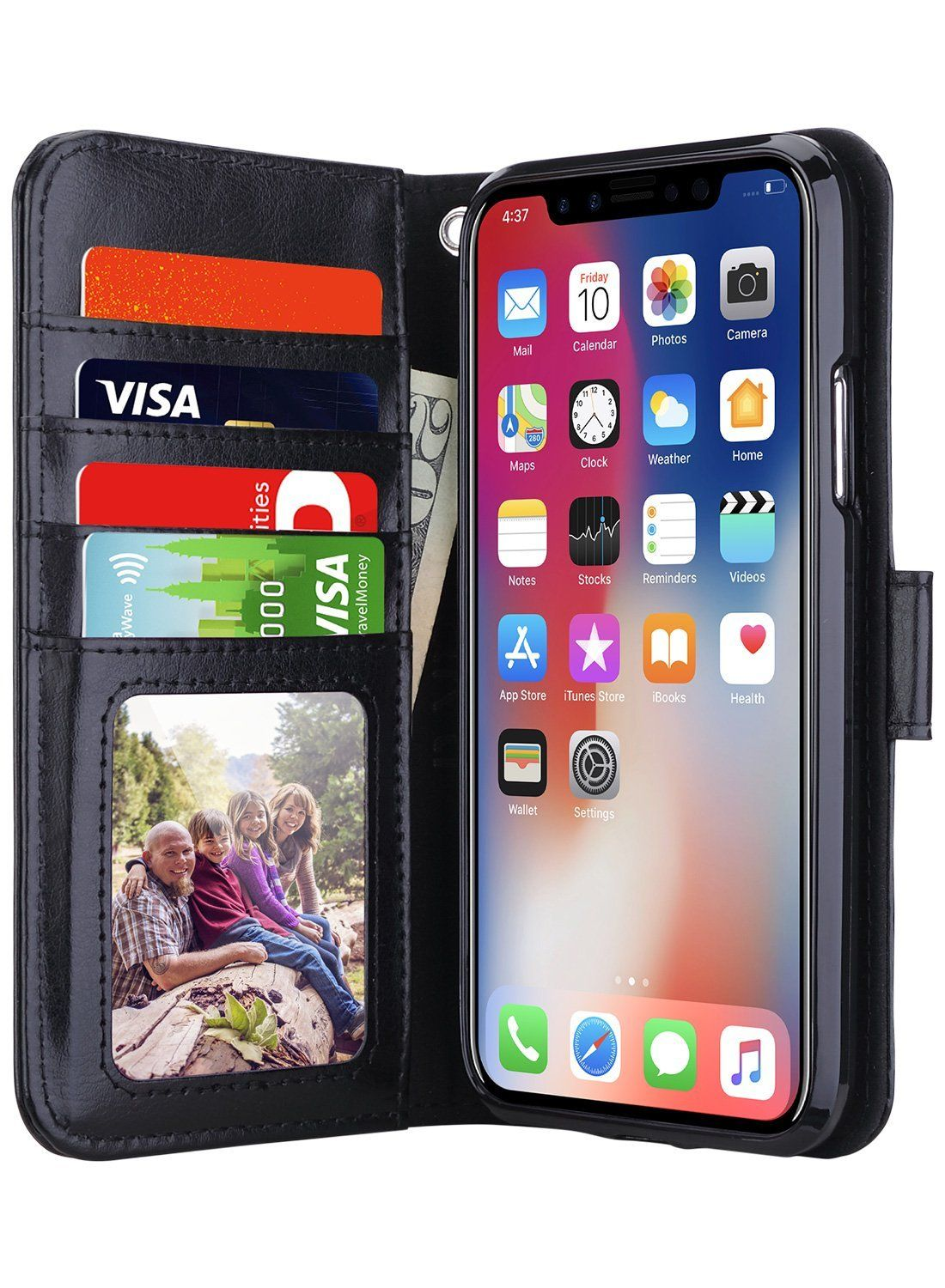 iPhone X Case, iPhone X Wallet Case with Card Holders