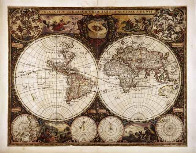 World Map In Renaissance. Renaissance  planisphere renaissance Antique World MapOld antique maps Pinterest