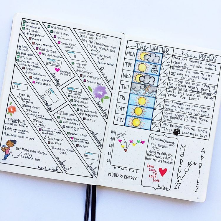 30 bullet journal ideas that 39 ll keep your life organized all year long bullet journal ideas. Black Bedroom Furniture Sets. Home Design Ideas