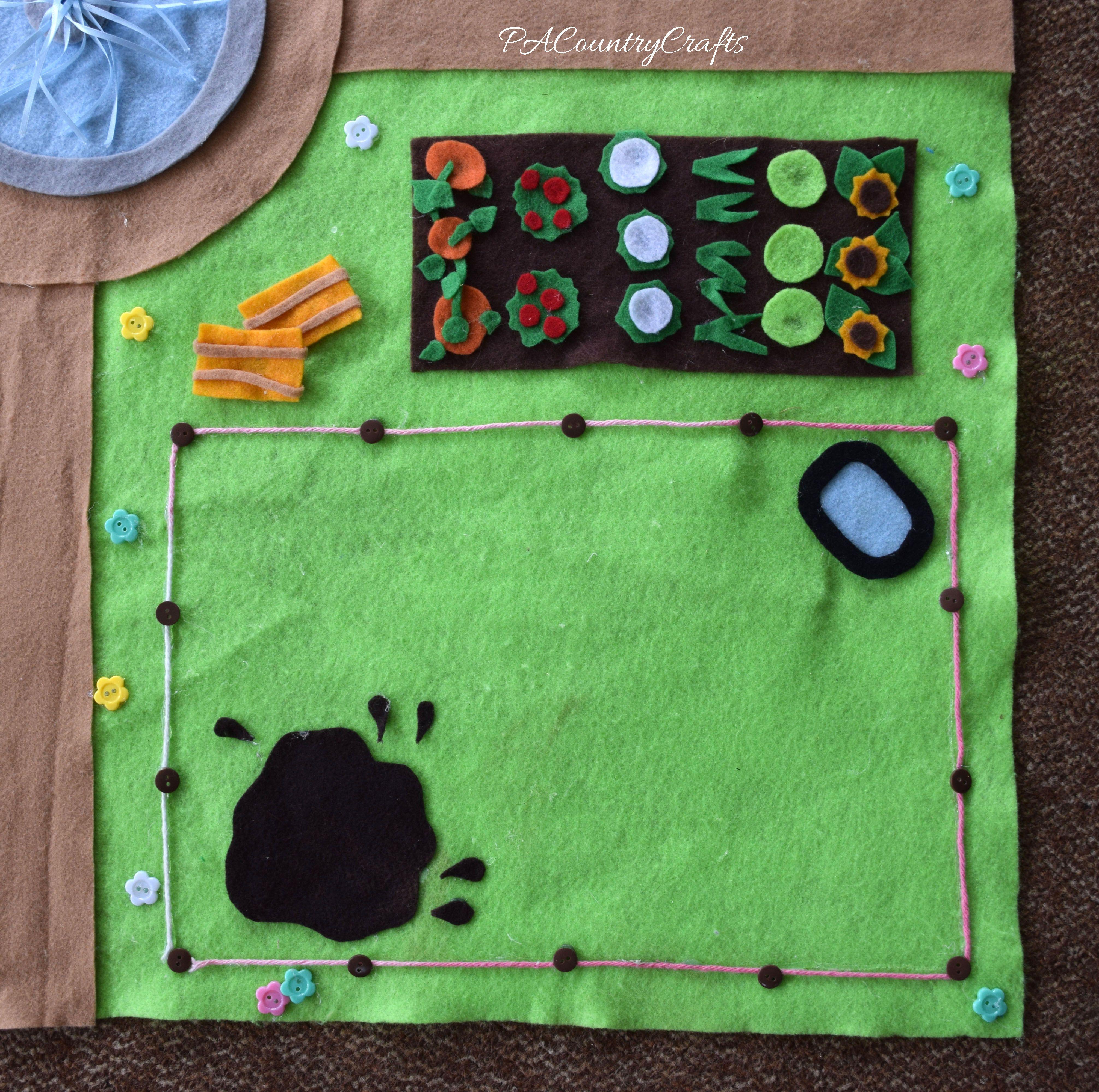 No Sew Littlest Pet Shop Felt Play Mat Pacountrycrafts Felt Play Mat Play Mat Farm Blankets