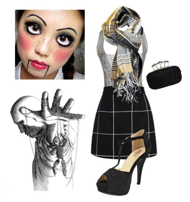 """Creepy Sexy Schoolgirl Marionette"" by chicastic ❤ liked on Polyvore"